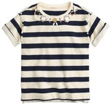 J.Crew Girls' striped necklace T-shirt