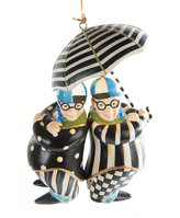 Mackenzie Childs MacKenzie-Childs - Wonderland Tweedle Dee & Tweedle Dum Tree Decoration