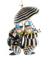 Mackenzie Childs Wonderland Tweedle Dee & Tweedle Dum Tree Decoration