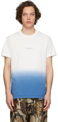 Stella McCartney White and Blue Tie-Dye T-Shirt
