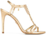 Loriblu high heeled sandals - women - Leather/Crystal/rubber - 39.5