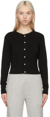 RE/DONE Black Hanes Edition 50s Cropped Cardigan