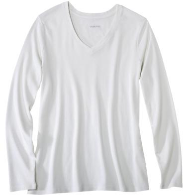 Merona Womens Plus-Size Long-Sleeve Basic Tee - Assorted Colors