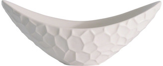 Global Views Honeycomb Long Bowl, Matte White