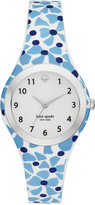 Kate Spade Women's Rumsey White, Blue and Navy Silicone Strap Watch 30mm KSW1087
