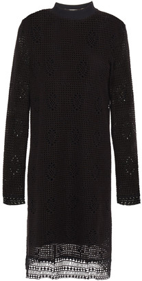 See by Chloe Guipure Lace-trimmed Open-knit Dress