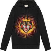 Gucci Cotton sweatshirt with angry cat appliqué - men - Cotton - XS