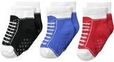 Jefferies Socks Sneaker Socks Non-Skid 3-Pack Boys Shoes