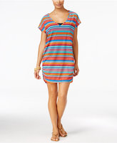 Anne Cole Triangle Striped Mesh Tunic Cover-Up