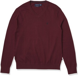 Nautica Men's Classic Fit Soft Lightweight Jersey V-Neck Sweater