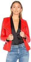 NOUR HAMMOUR Erin Jacket in Red