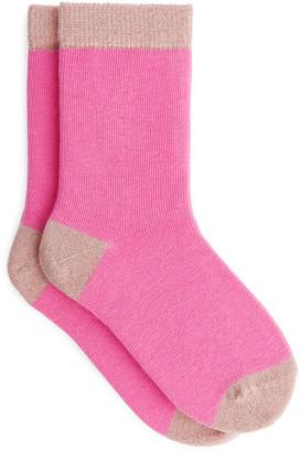 Arket Colour-Blocked Glittery Socks