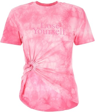 Paco Rabanne Tie-Dye Knotted T-Shirt