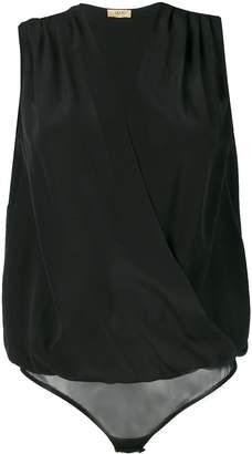 Liu Jo Draped V-Neck Bodysuit