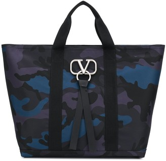 Valentino VRING camouflage tote bag