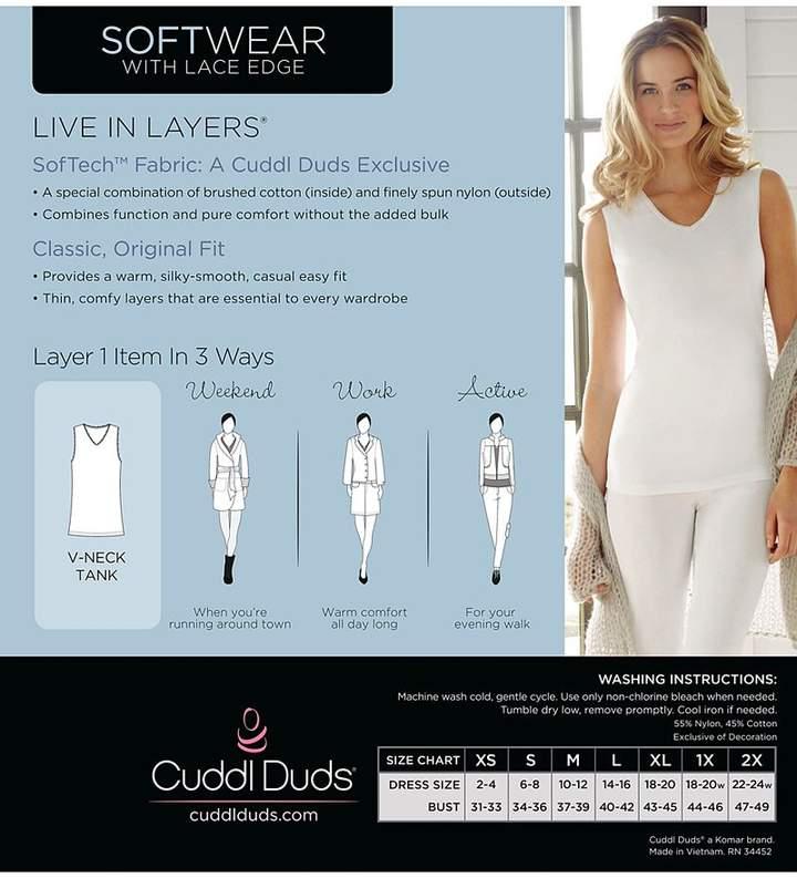 Cuddl Duds Softwear Lace-Trim V-Neck Tank Top