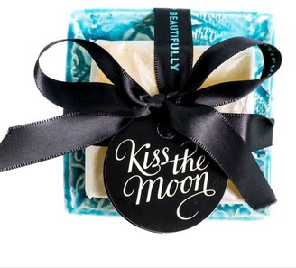 Kiss The Moon Calm Aromatherapy Soap With Turquoise Handmade Dish