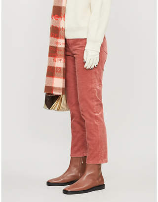 Acne Studios Cropped mid-rise straight corduroy trousers