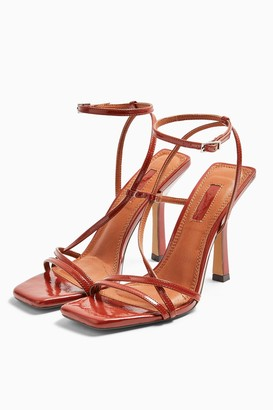 Topshop RITZ Rust Strap High Heels