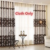 WPKIRA Window Treatments Patchwork Heavy Fabric Leaves Room Darkening Thermal Insulated Blackout Grommet Top Window Curtain Drapes for Living Room , (1 Panel) W52 x L96 inch
