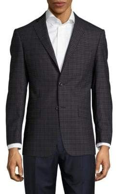 Michael Kors Plaid Wool Jacket