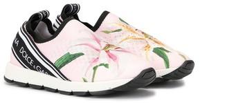 Dolce & Gabbana Floral Print Slip-On Sneakers