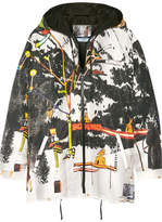 Prada Printed Silk-faille Hooded Jacket - White