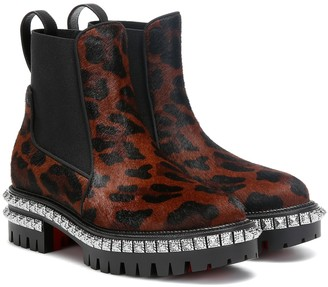 Christian Louboutin By The River calf hair ankle boots