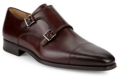 Magnanni Double Monkstrap Leather Shoes