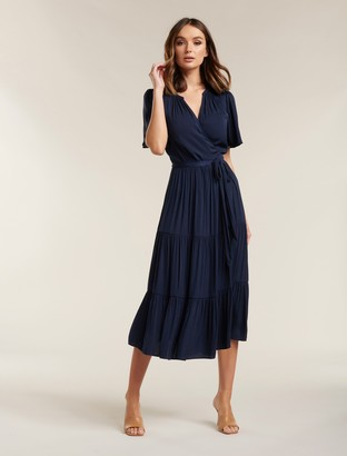 Ever New Anna Flutter Sleeve Midi Dress