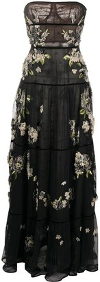 Valentino Pre-Owned 2012 Embroidered Evening Dress