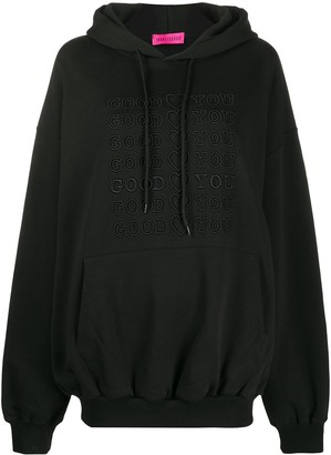 Ireneisgood Goodforyou embroidered cotton hoodie