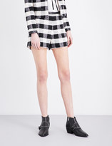 Claudie Pierlot Eleonore tweed checked shorts