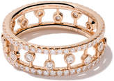 De Beers 18kt rose gold Dewdrop diamond band
