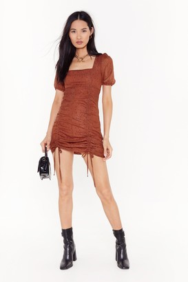 Nasty Gal Womens Caught Me in It's Spotlight Ruched Mini Dress - orange - 8