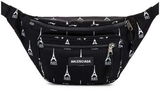 Balenciaga Explorer Belt Pack in Black & Grey | FWRD
