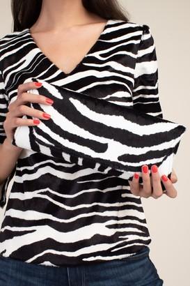 Trina Turk Zebra Lola Clutch