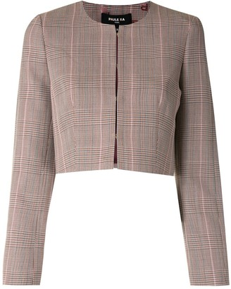 Paule Ka Glen plaid cropped jacket