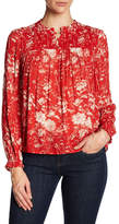 Lucky Brand Ruched Pattern Blouse