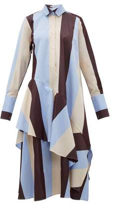 Palmer Harding Palmer//harding - Spicy Striped Cotton Shirtdress - Womens - Burgundy Multi