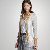 Cashmere argyle V-neck cardigan