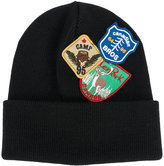 DSQUARED2 patch embroidered beanie hat - men - Wool - One Size
