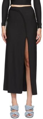 Ottolinger Black Strappy Slit Skirt