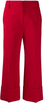 Valentino cropped pleated trousers