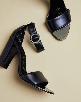 Ted Baker SECATAA Metallic leather heeled sandals