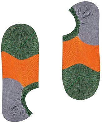 Happy Socks Hysteria By Isa Invisible Sneaker Sock (Dark Orange) Women's Crew Cut Socks Shoes
