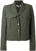 Kenzo cropped military jacket - women - Polyester/Cotton - 36