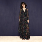Maje Long printed chiffon dress