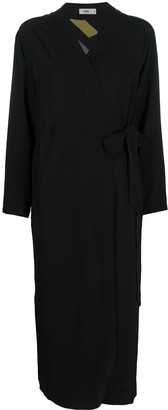 Closed Side-Slitted Wrap Dress