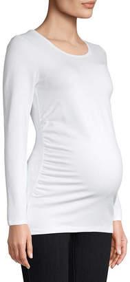 BELLE + SKY Belle & Sky Maternity Long Sleeve Scoop Tee